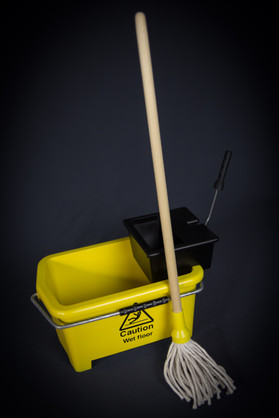 Miniature mop bucket