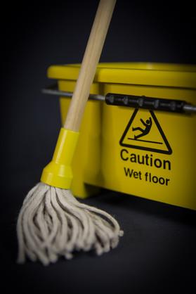 Miniature mop and bucket