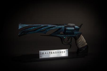 Malfeasance with custom magnetic display.