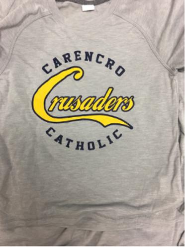 Gray Crusaders Raglan Stitch SHORT Sleeve