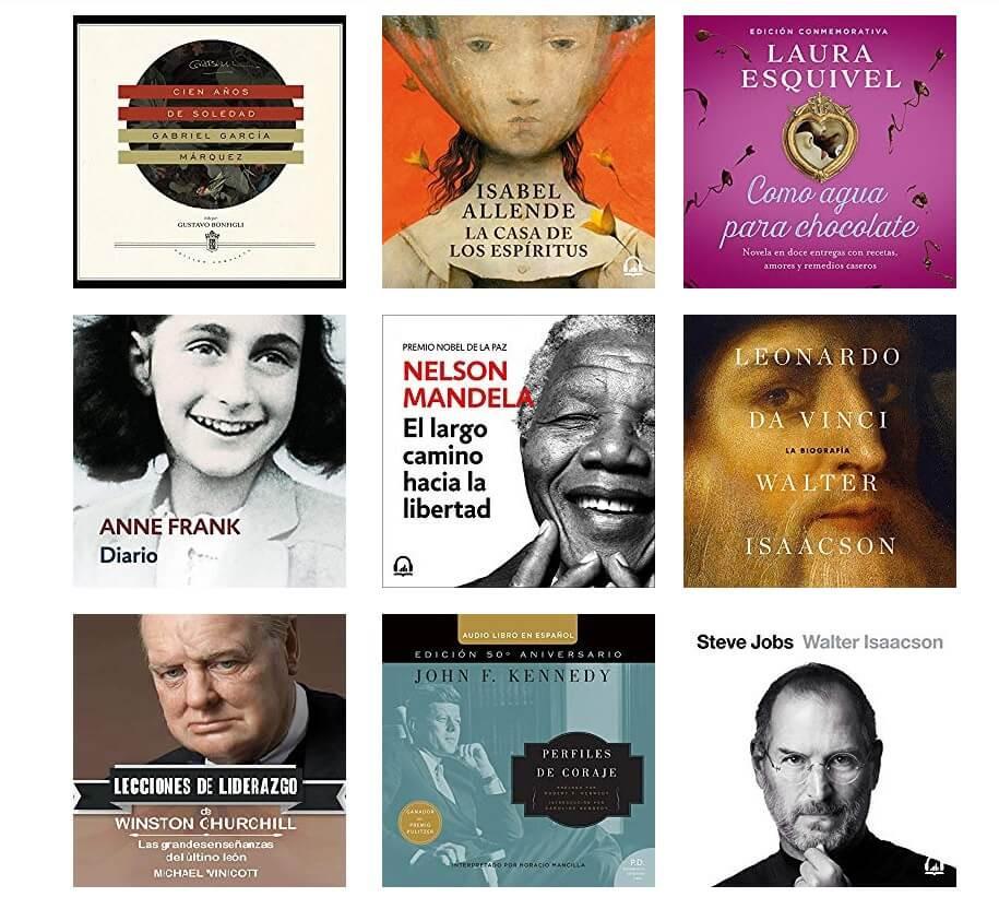 Audiobooks in Spanish