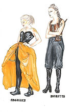 costume designs by Anouk Mondini for The Rover