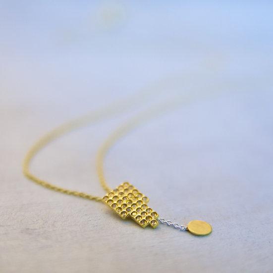 Fatima Silver Necklace in Gold