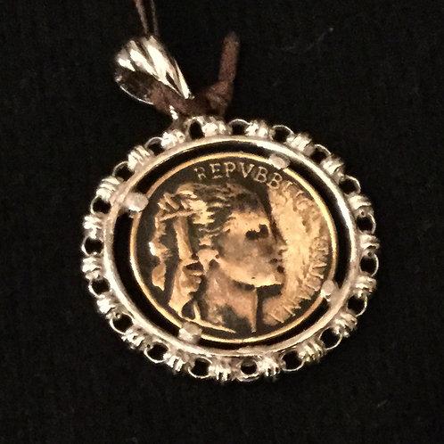 5 Lira Coin Pendant (23 mm diameter) RH