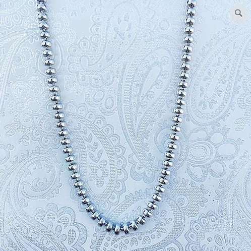 Ciambelle 5mm Chain (A Princess Length - Rhodium)