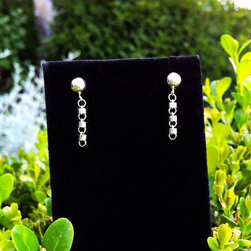 3mm Cylinders Earring