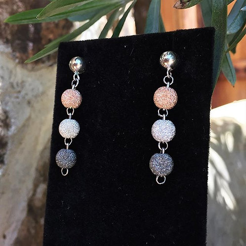 8mm Tri-Colore Earring