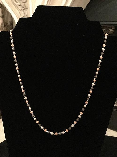 3mm Tri-Color Necklace (Rose Gold)