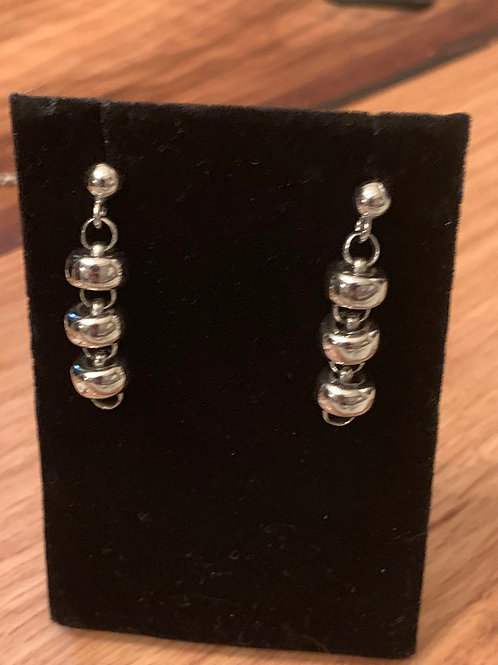 Earrings Ciambelle 10mm x3 Rhodium