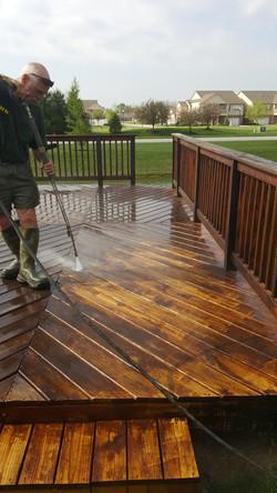 residential deck washing/stripping