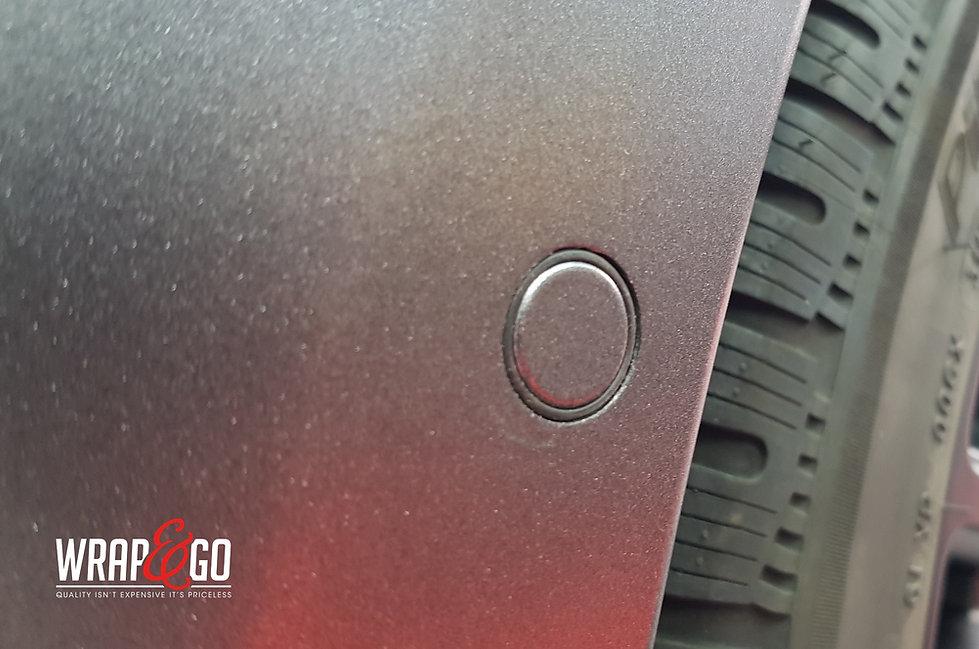Tesla Model X Carwrap Dark Satin Grey Details