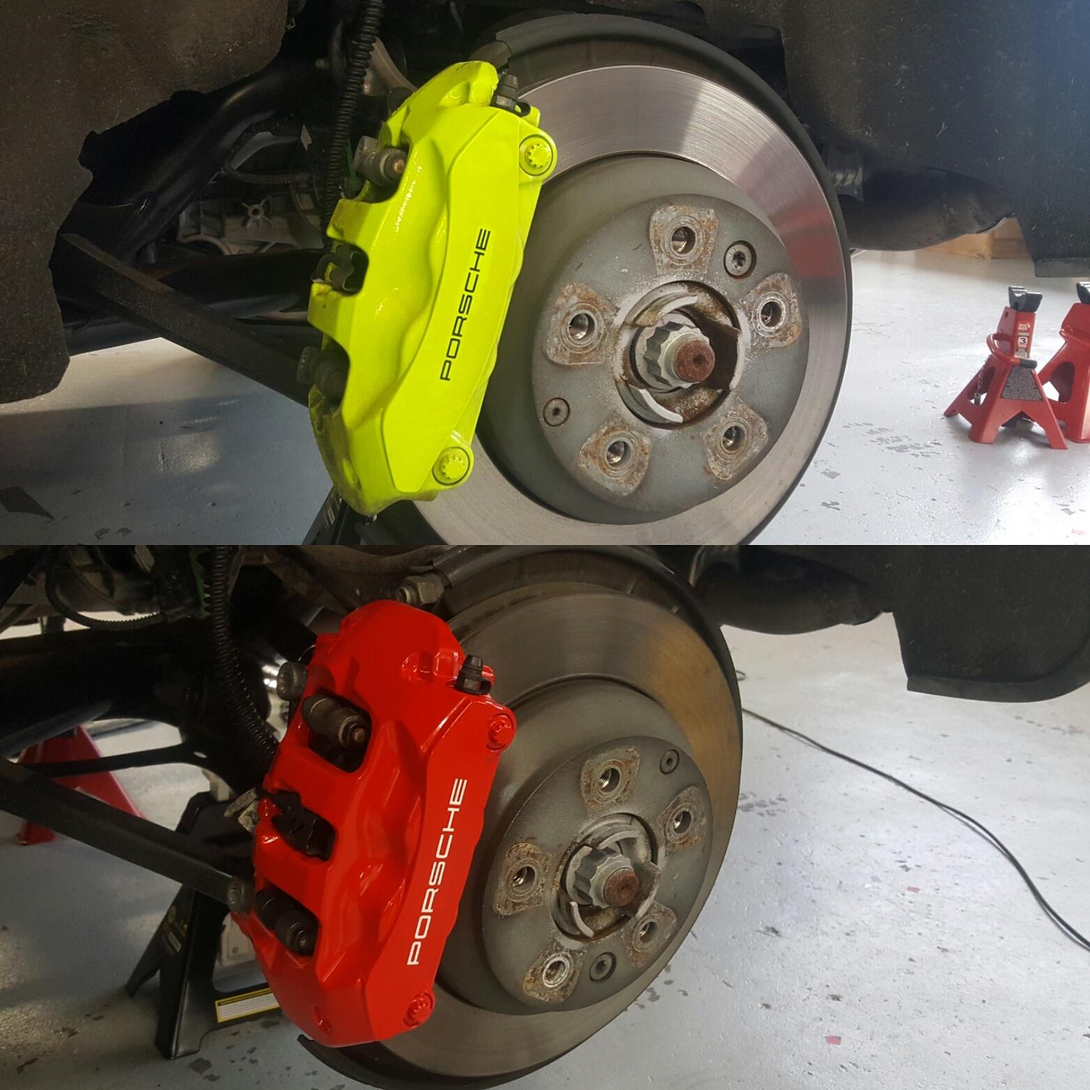Porsche Remklauwen Rood Gespoten