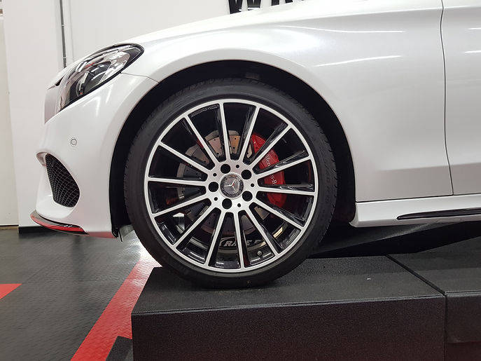 Carwrap WrapAndGo Mercedes C-Coupe Avery Diamond White