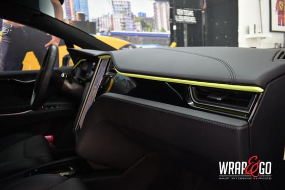 Tesla Model X Interieur Details Car Wrap