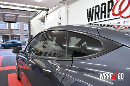 Tesla Model S Chrome Delete Satin Black