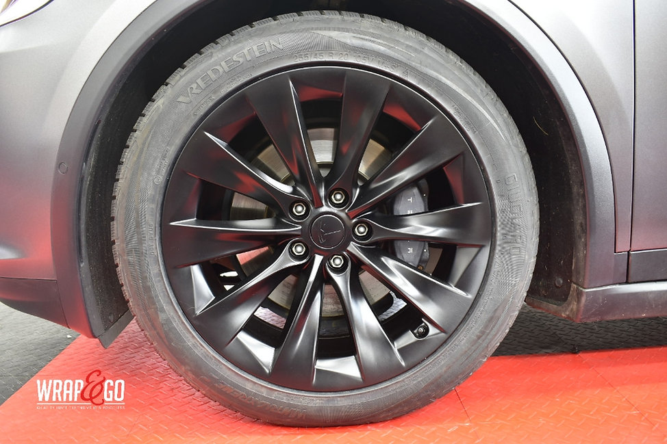 Tesla Model X Velgen spuiten Satin Black