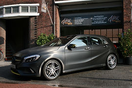 Carwrapping Mercedes A-klasse 3M Brushed Black Metallic