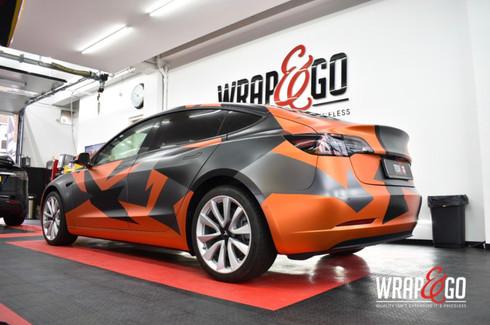 Tesla Model 3 Camoflage Car Wrap