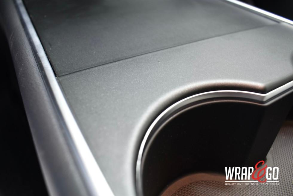 Tesla Model 3 Matte Metallic Black Inter