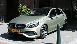 Carwrap Mercedes Autowrap Avery Midnght Sand