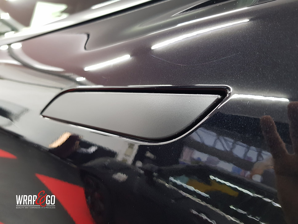 Carwrap Tesla Model S No chrome