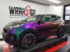 Kia Sportage Carwrap Avery ColorFlow door WrapAndGo