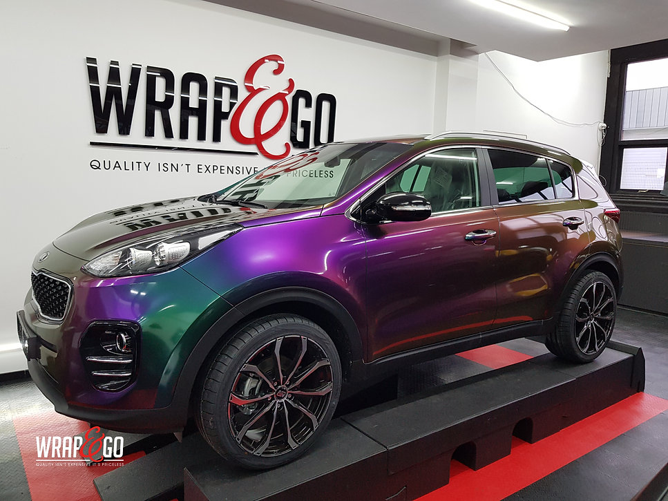 Kia Sportage Carwrap Avery ColorFlow door WrapAndGo