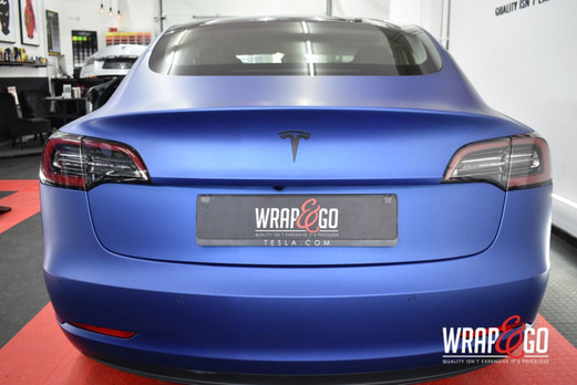 Tesla Model 3 Wrap 3M Matte Slate Blue