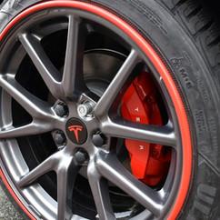 Alloygator velg beschermer rood Tesla