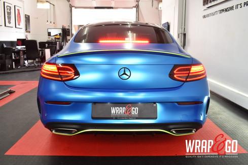 Mercedes C-Coupe Satin Blue Chrome Car W