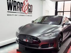 Tesla Model S 3M Satin Dark Grey