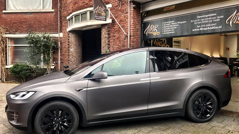 Tesla Model X Carwrap Matte Dark Grey