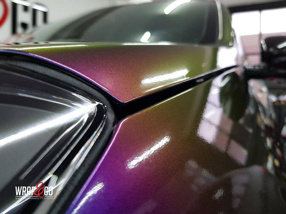 Kia Sportage Carwrap Avery ColorFlow door WrapAndGo voorkant