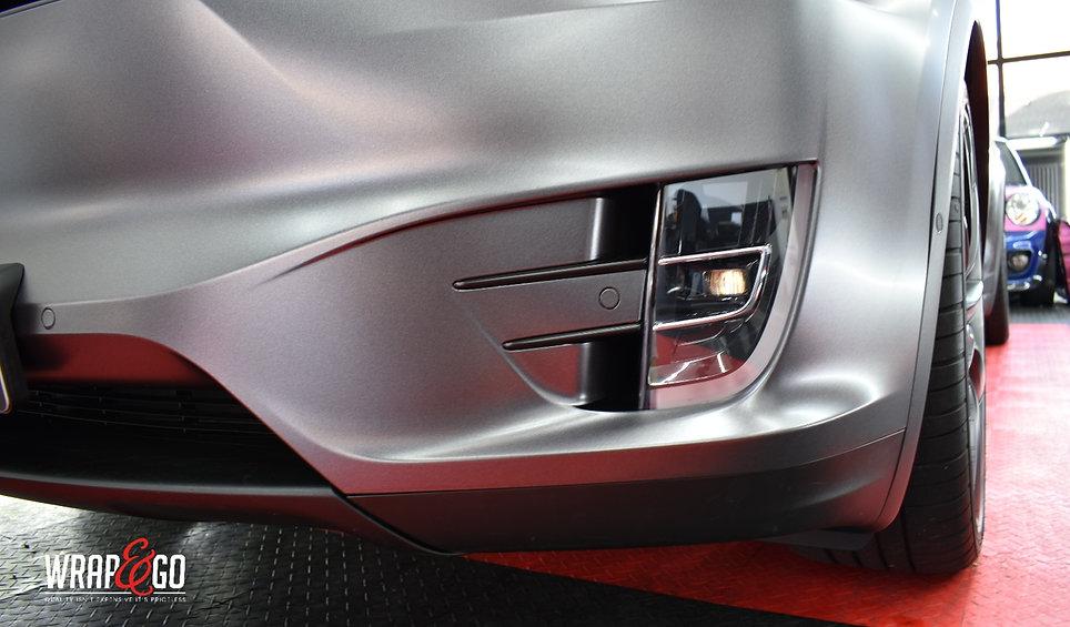 Carwrap Tesla Model X 3M Dark Satin Grey WrapAndGo