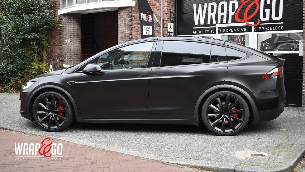 Tesla X Satin Black 3M Carwrap