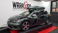 VW Golf Camouflage Auto Wrap