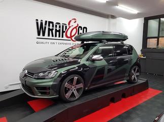 VW Golf Camouflage Auto Wrap