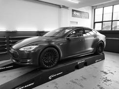 Tesla Model S 3M Brushed Black Car Wrap