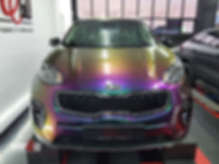 Kia Sportage Carwrap Avery ColorFlow door WrapAndGo front