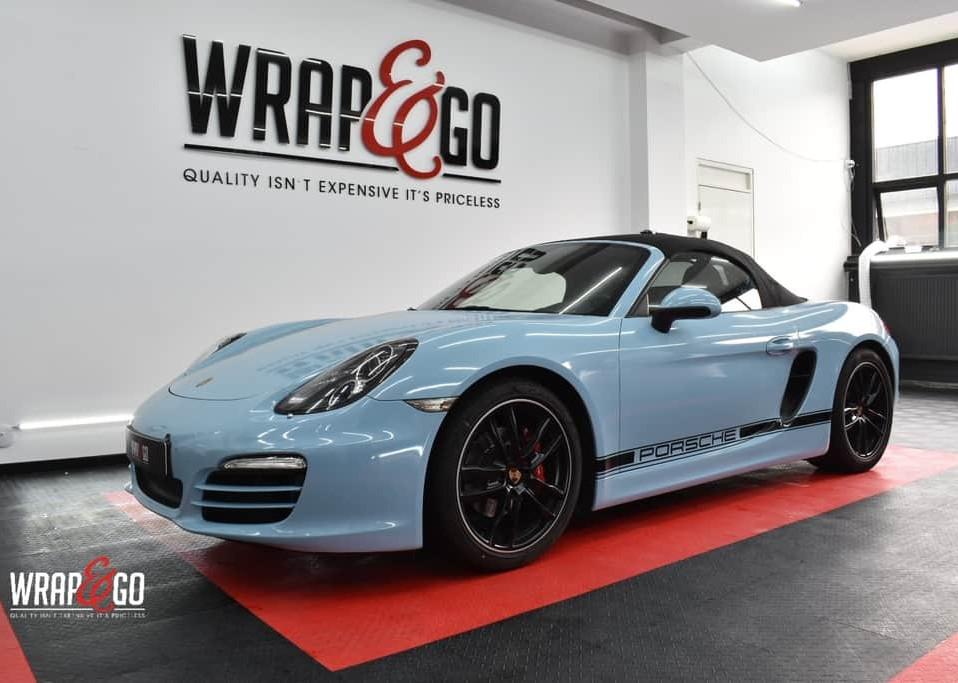 Porsche Boxter Avery Sea Breeze Blue Car