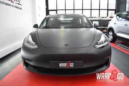Tesla Model 3 3M Matte Black Carwrap Voo