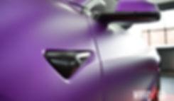 Tesla Model 3 Carwrap Satin Chrome Purple Knipperlichte