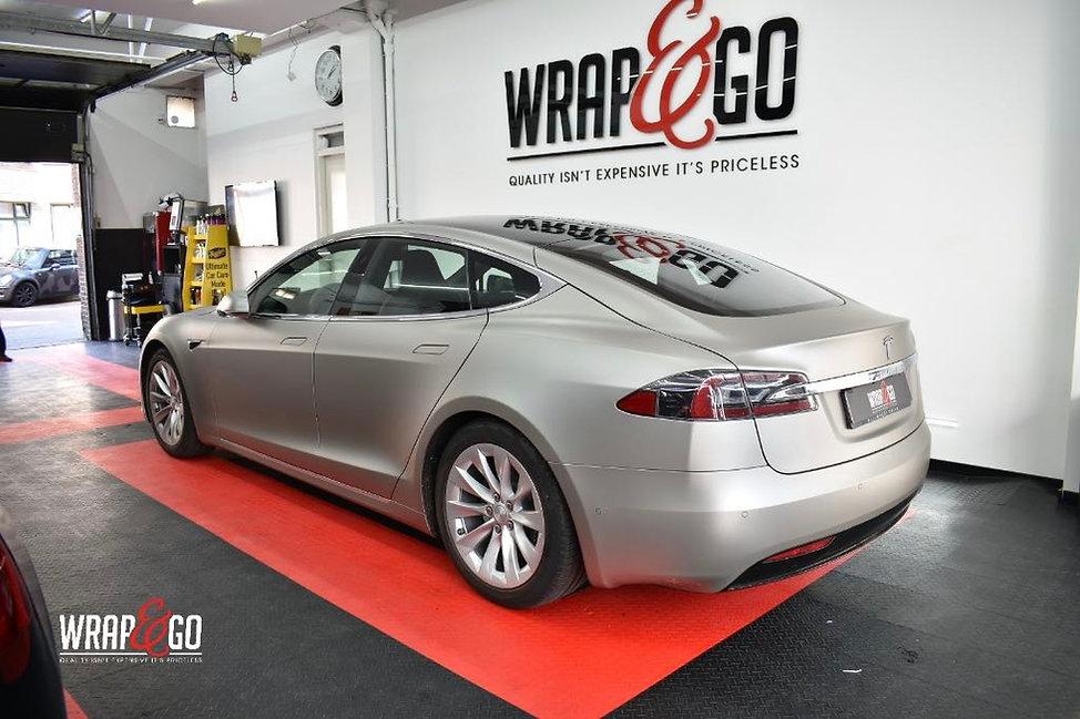 Tesla S 3M Matte Grey Auto Wrap