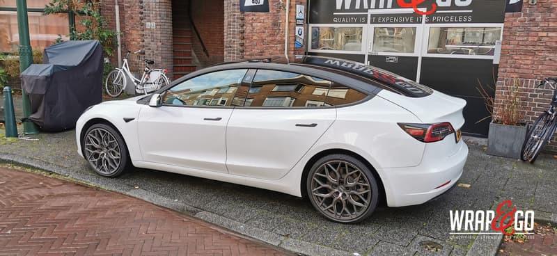 Tesla Model 3 Chrome Delete Dakbogen Wra