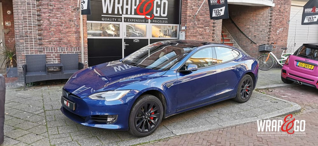 Tesla Model S Chrome Delete Mat Zwart Wr