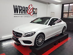 WrapAndGo Carwrap Mercedes C-Coupe Avery Diamond White Outsiders