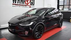 Tesla X Chrome Delete Car Wrap