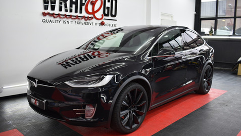 Tesla X Chrome Delete Car Wrap