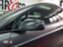 Carwrap Tesla Model X 3M Satin Grey WrapAndGo Mirror