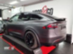 Carwrap Tesla Model X 3M Satin Grey WrapAndGo